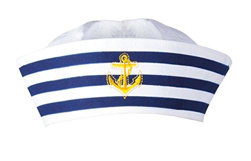 Boland 44355 - Mütze Matrose, Navy Sailor, Seemann, Seefahrer, Marine, für Erwachsene, Accessoire, Kopfbedeckung, Kostüm, Mottoparty, Karneval