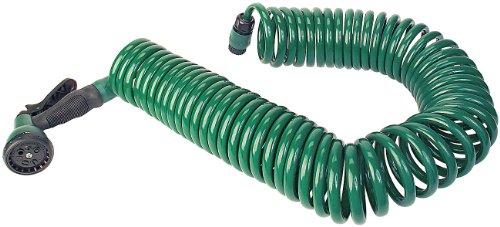 PEARL Spiralschlauch: Gartenschlauch in Spiralform mit 15m Länge (Spiralschlauch Garten)