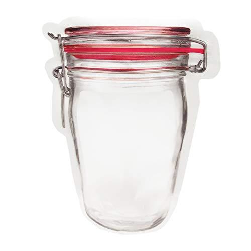 Gesh 30 Pcs Pack Glas Tasche Wiederverwendbare Snack Tasche Mobile Hermetic Gefrierschrank Taschen Druckverschluss Beutel KüChe Lebensmittel Reise Seal Pouch