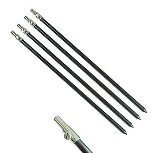 DD-Tackle 4 Stück Set Alu Bank Stick 50-90cm Bankstick Ruten Halter Ständer Rutenauflage Rod Pod Aluminium Rutenhalter Rutenständer Rod Pod Tele teleskop