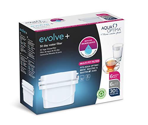 Aqua Optima Evolve+ 30 Tage Wasserfilterkartusche, weiß, 6 Pack (up to 6 Months Supply)