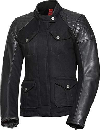 IXS Motorradjacke mit Protektoren Motorrad Jacke Damen Leder-/Textiljacke Jenny schwarz 46, Chopper/Cruiser, Ganzjährig, Leder/Textil
