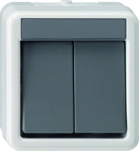 Gira 10530 Wippschalter 010530 Serienschalter WG AP grau, 250 V