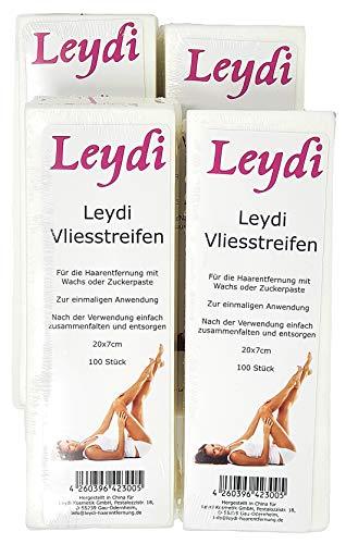 NEU: 400 Leydi Vliesstreifen - für die Haarentfernung mit Warmwachs und Zuckerpaste