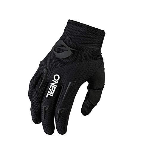 O'NEAL | Fahrrad-& Motocross-Handschuh | MX MTB DH FR Downhill Freeride | Langlebige, Flexible Materialien, belüftete Handinnenfäche | Element Glove | Herren | Schwarz Weiß | Größe L