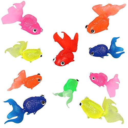 SUNSK Plastik Fische Künstliche Goldfisch Schwimmende Aquarium Dekoration Goldfisch Verzierung für Aquarium Landschaft 10 Stück (Zufälliger Farbe)