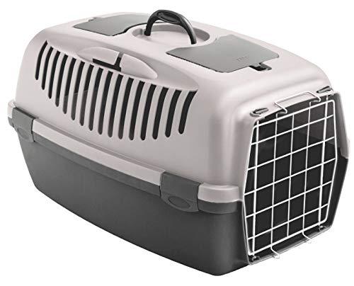 Stefanplast Transportbox Katzenbox Hundebox Katzentransportbox Autobox Gulliver 3 - puderrosa