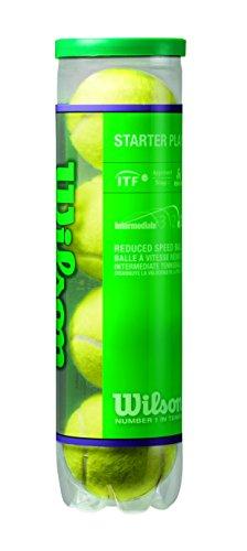 Wilson Tennisbälle Starter Play Green für Kinder und Jugendliche, Gelb, 4er Dose, WRT137400