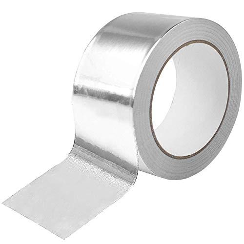 DEDC Aluminium Klebeband 50mm x 50m für Lüftungs- und Klimaanlagen, Kanäle, Isolierung Aluminium Folie Klebeband, Mehrzweck-Aluminium Folie Klebeband