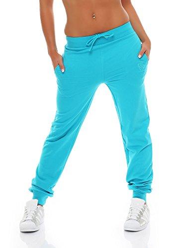 Gennadi Hoppe Damen Jogginghose Trainingshose Sweat Pants Sporthose Fitness Hose,türkis,Medium