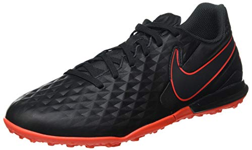Nike Herren Legend 8 Academy TF Futsal-Schuh, Black/DK Smoke Grey-Chile RED,47 EU