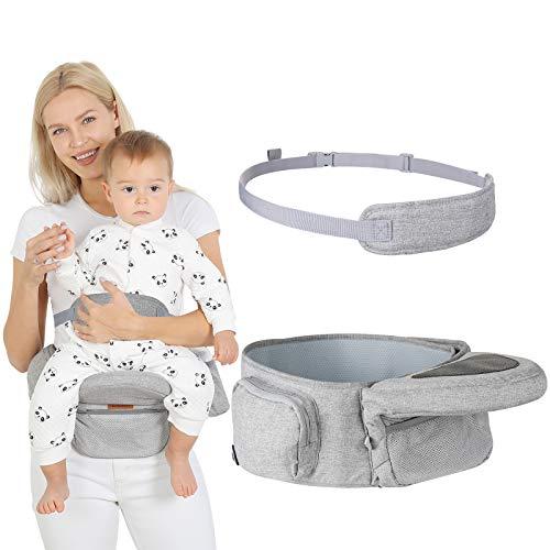 Lictin Baby Hüftsitz Leichte Taille Hocker 5 Einstellbare Winkeleinstellungen - Hüftsitz Baby mit Sicherheitsgurt Schutz- Kleinkind Carrier Holder Ergonomische Hüftsitz Baby für 6-36 Monate Kinder