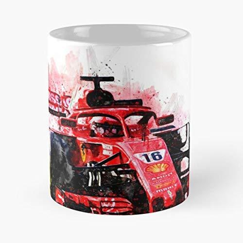 5TheWay Ferrari Leclerc Mug Charles Best 11 oz Kaffeebecher - Nespresso Tassen Kaffee Motive