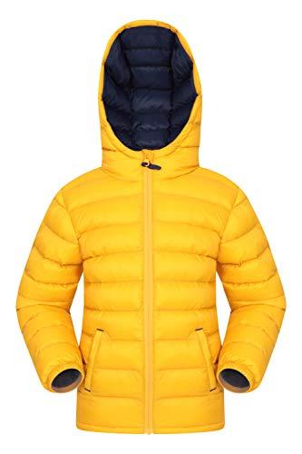 Mountain Warehouse Seasons Gepolsterte Jacke für Kinder, geeignet für alle Jahreszeiten - wasserdichte Winterjacke, leicht & warm Dunkelgelb 13 Jahre