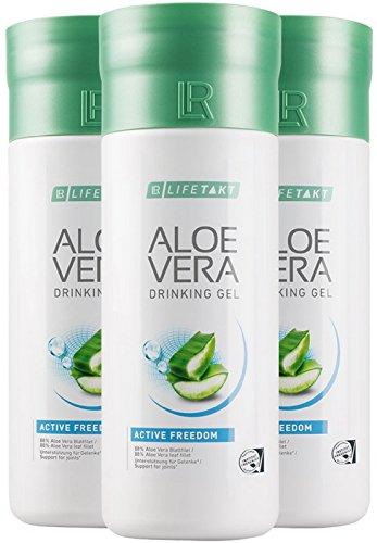 LR LIFETAKT Aloe Vera Drinking Gel Active Freedom Nahrungsergänzungsmittel (3x 1000 ml)