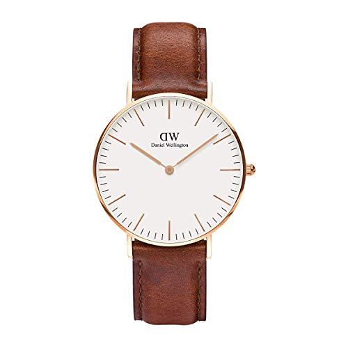 Daniel Wellington Classic St Mawes, Braun/Roségold Uhr, 36mm, Leder, für Damen und Herren