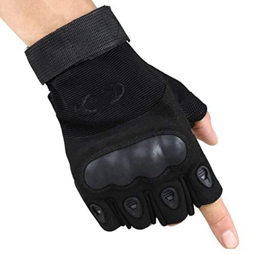 Hezeyang Taktische Reitarmeefanhandschuhe rutschfeste Abnutzung, die Sonnenschutz-Eignungshalbfingerhandschuhe des Bergsteigens im Freien kämpft