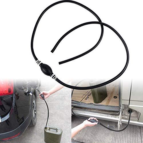 ZAMDOE Handpumpe benzinpumpe öl Wasser Notpumpe mit Pumpball Außenborder Bootstank kraftstoffpumpe, für Boot Auto Fahrzeug Diesel Benzin Öl(10mm X 200cm)