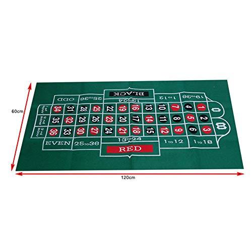 ZY123 Tischdecke für Blackjack-Roulette, wasserdichter Tisch mit Blackjack- und Roulette-Filz für Casino Poker-Gaming-Tischdecken-Layout-Tischkarten