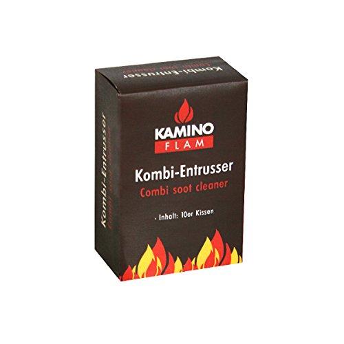 KaminoFlam Rußentferner zur Reinigung von Ölofen & Kohleofen - Kombi Entrußer für den Ofen - Kaminreiniger Beutel für Öfen für Öl & Holzkohle