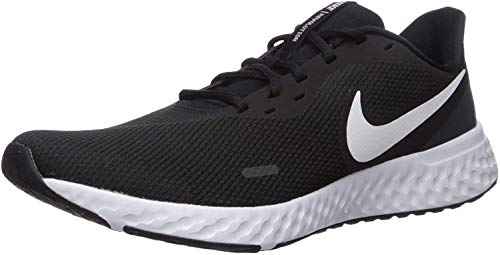 Nike Herren Revolution 5 Sneaker, Schwarz Black White Anthracite, 44 EU