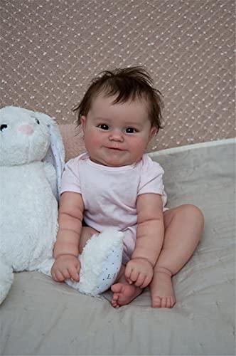 50Cm Reborn Babypuppe Neugeborenen Mädchen Baby Lebensleine Echte Weiche Touch Maddie Mit Handgewurzelten Haar Hohe Qualität Handgemachte Kunstpuppe