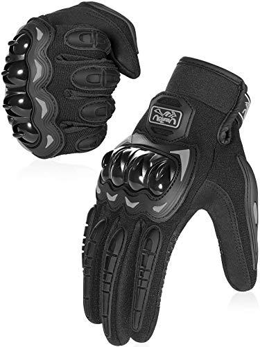 COFIT Motorrad Handschuhe, Touchscreen Motorradhandschuhe für Motorradrennen, Mountainbike, Motorcross, Klettern, Wandern und andere Outdoor Sportarten und Aktivitäten - Schwarz L