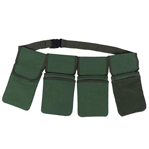 Gartenwerkzeuggürtel, Leinwand-Taillenschürze mit Taschen, hängende Beutel-Einkaufstasche, Home Organizer Gardening Kit-Halter Lawn Yard Storage Bag Carrier