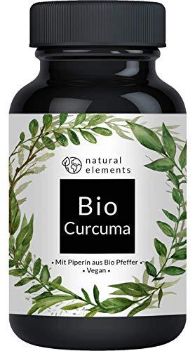 Bio Curcuma - 240 Kapseln - 4542mg (Bio Kurkuma + Bio schwarzer Pfeffer) pro Tagesdosis - Mit Curcumin & Piperin - Hochdosiert, vegan und hergestellt in Deutschland