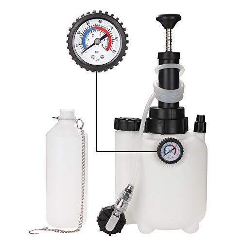 Hengda Bremsenentlüfter Bremsenentlüftungsgerät Bremsflüssigkeit 3L Fassungsvermögen Auffangflasche Für Bremsflüssigkeit Druckluft Bremsflüssigkeit Wechseln