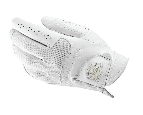 Wilson Staff Damen Golfhandschuh, Cabretta-Leder, Größe M, Links, LLH, Weiß, Conform, WGJA00303M