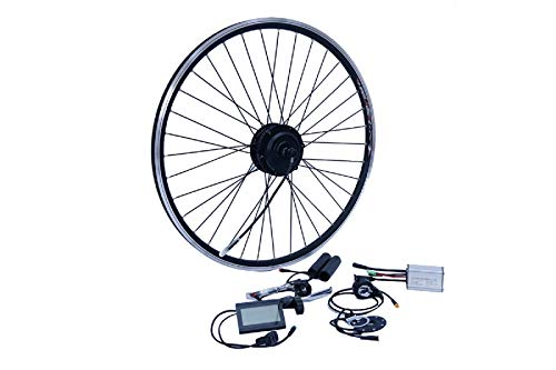 NCB E-Bike Umbausatz 28 Zoll Vorderrad FWD 250W Kit Disc + V Brake Kabel wasserfest IP65 36V ENC36250-28-FWD 28