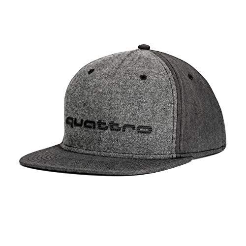 Audi Sport GmbH 3131700800 Basecap Snapback Cap Baseballcap Kappe, mit Quattro Schriftzug, grau
