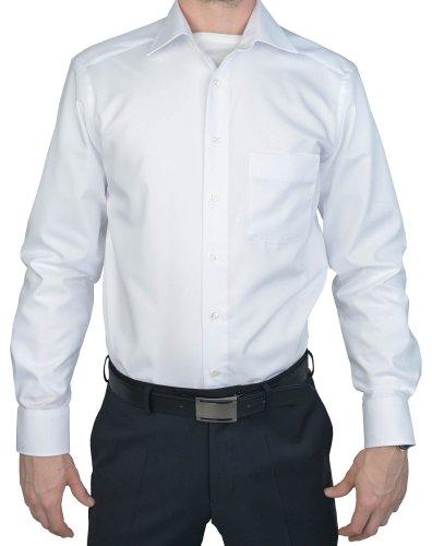 MarVelis-Hemd Modern Fit weiss bügelfrei, Farbe Weiß, Größe EU 42