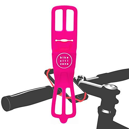 Bike Citizens Finn - Die universelle Smartphone Halterung für jedes Fahrrad und jedes Handy! Mit Fahrrad Navigation - Handy Halter für das Fahrrad, MTB oder Rennrad (Pink)