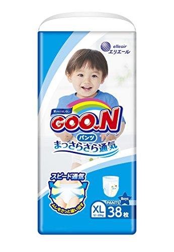 GOO.N Baby Windelhöschen für Jungen BIG Gr. XL (12-20 kg) 38 Stück Premuim Qualität Made in Japan