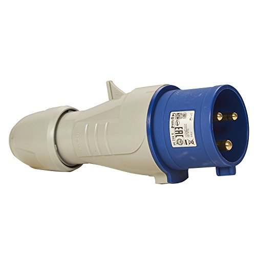 Legrand, CEE 32A Stecker, blau 3-polig (2P+PE), 6h (230V/32A), Schutzart IP44, IK09, 090107