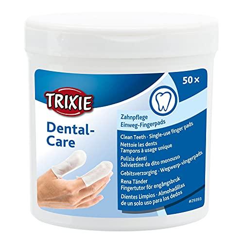TRIXIE 29393 Dental Care Zahnpflege, Fingerpads, 129 g