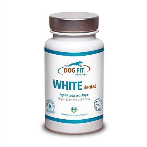 DOG FIT by PreThis® White dental | Zahnpflege für Hunde | Bei Zahnstein & Zahnbelag | Natürliche Zahnreinigung & Vorbeugung für gesunde Zähne