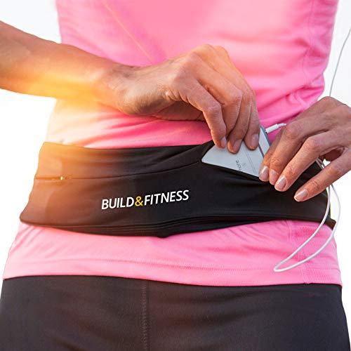 Build & Fitness Lauf Gürtel Damen und Herren, Flip-Taille Gürteltasche, Schlüsselclip - Handytasche Passend für iPhones, Samsung
