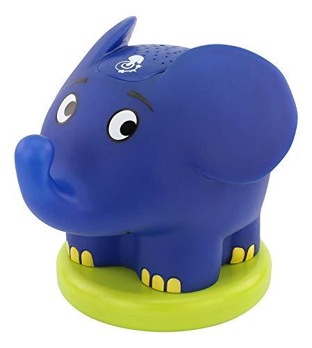 ANSMANN Sternenhimmel Projektor mit Musik Sternenlicht Elefant (Sendung mit der Maus) Einschlafhilfe als LED Nachtlicht für Baby & Kind - Schlummerlicht nachttischlampe Kinderzimmer Deko & Stilllicht