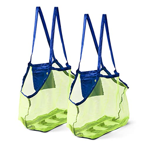 Bramble 2er Set Strandspielzeug Taschen aus Netzstoff - Leicht & Faltbar