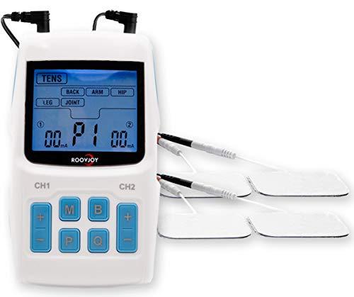 3-in 1 EMS TENS Gerät | Reizstromgerät mit 36 Programmen für die Behandlung von Schmerzen | Trainingsgerät für Muskelaufbau | Muskel Massage | Muskelstimulator