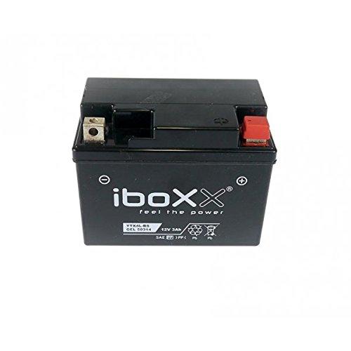 Iboxx Motorrad Gel Batterie / Gelbatterie YTX4L-BS, 12 Volt, 3 Ah für Kymco ZX 50 II Fever, SC10AS, SC10AW, Bj. 2004-2007