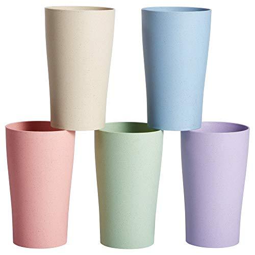 Parboom Tasse Becher Unzerbrechliche Tessen Bunte Teetasse Trinkbecher für Wasser Kaffee Milch Saft Mikrowellen und Tasse