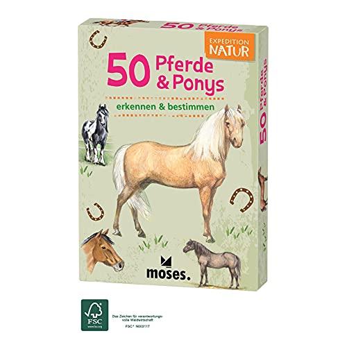 moses. 9744 Expedition Natur 50 Pferde und Ponys  Bestimmungskarten im Set   Mit spannenden Quizfragen