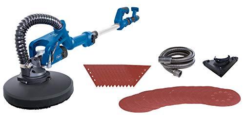 scheppach Trockenbauschleifer DS930 (Langhals Wand-Deckenschleifer mit 710 W, Ø 215 mm, teleskopierbar, neigbar) - inkl. Schleifscheiben, Absaugadapter/Schlauch