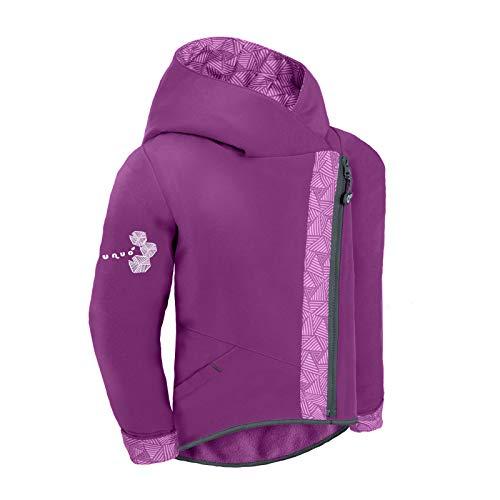unuo Softshell Jacke Cross mit Fleece Innenfutter Wasserabweisend und Winddichte Atmungsaktive Outdoor Funktionsjacke Freizeitjacke für Kinder mit Full Zip