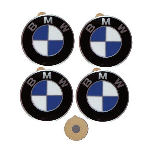 4x ORIGINAL BMW Logo Radnaben Emblem 45mm Plakette Felgenemblem selbstklebend NEU