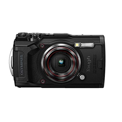 Olympus Tough TG-6 Actionkamera, 12 Megapixel Sensor, digitale Bildstabilisierung, 4x-Weitwinkel-Zoom, 4k-Video, 120fps, Wi-Fi, schwarz